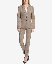 Tommy Hilfiger Plaid Blazer & Slim-Leg Pants