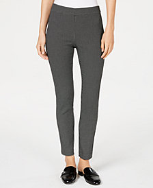 Maison Jules Patterned Stretch Ankle Pants, Created for Macy's