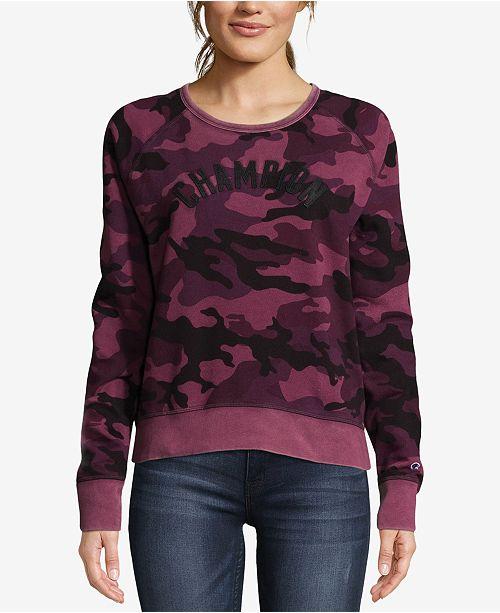 88571d4e5 ... Champion Heritage Vintage-Dyed Camo-Print Fleece Sweatshirt ...