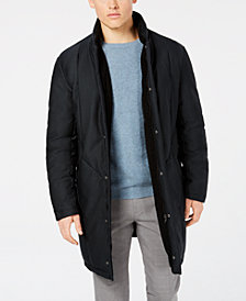 DKNY Men's Dewitt Slim-Fit Navy Puffer Overcoat