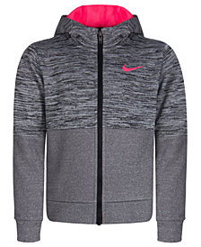 Nike Little Girls Therma Heathered Hoodie