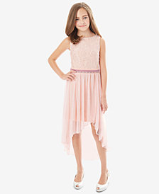 BCX Big Girls Glitter Lace Maxi Overlay Dress