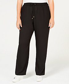MICHAEL Michael Kors Plus Size Striped Track Pants