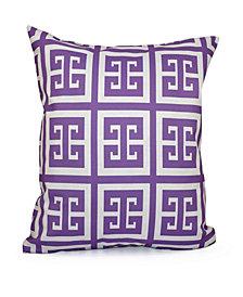 16 Inch Purple Decorative Geometric Throw Pillow
