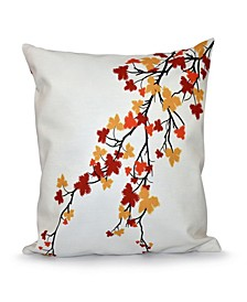 "Fall Leaves 16"" Decorative Pillow"