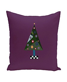 16 Inch Purple Decorative Christmas Throw Pillow