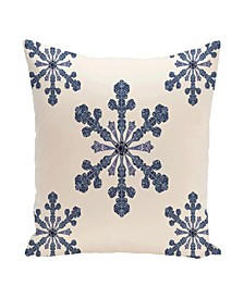 16 Inch Off White Decorative Christmas Throw Pillow