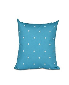 Dorothy Dot 16 Inch Turquoise Decorative Polka Dot Throw Pillow