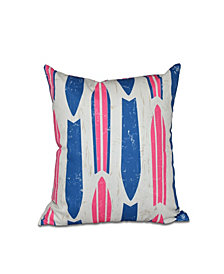 Dean 16 Inch Pink Decorative Nautical Throw Pillow