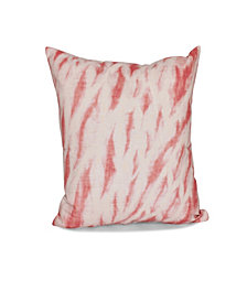 Shibori Stripe 16 Inch Coral Decorative Abstract Throw Pillow