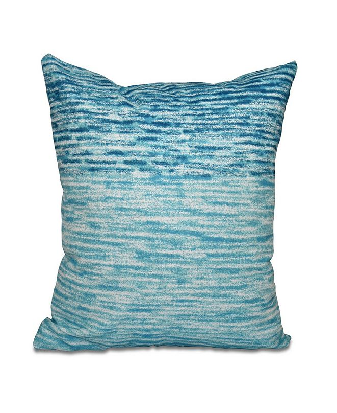 E by Design Ocean View 16 Inch Turquoise and Teal Decorative Geometric Throw Pillow