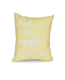 My Mantra 16 Inch Yellow Decorative Word Print Throw Pillow