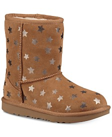 UGG® Toddler Girls Classic Short II Stars Boots