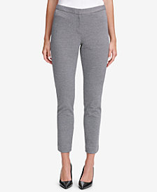 Calvin Klein Mini-Houndstooth-Print Ankle Pants