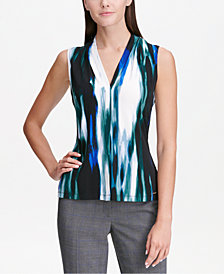 Calvin Klein Printed V-Neck Shell