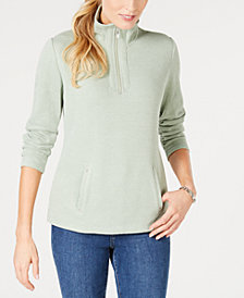 Karen Scott Half-Zip Top, Created for Macy's