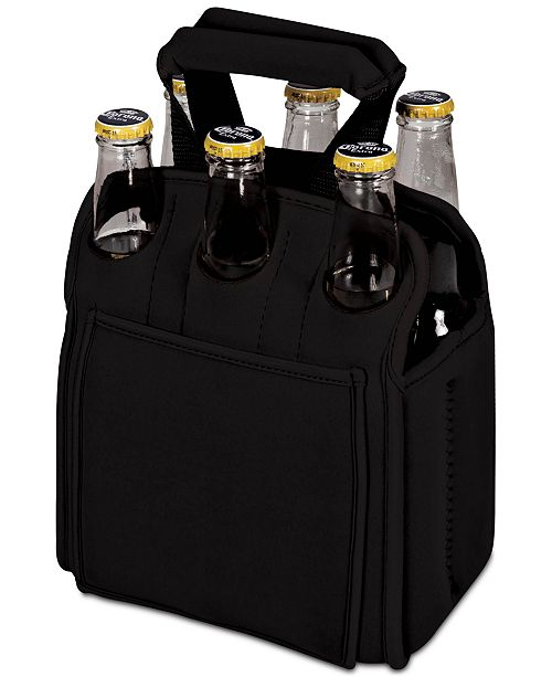 Picnic Time Oniva™ by Six Pack Black Beverage Carrier