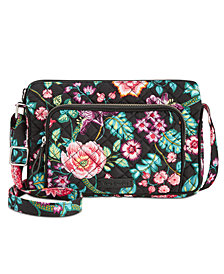 Vera Bradley Iconic RFID Little Hipster Crossbody