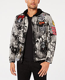 Reason Men's Crushers Hooded Denim Jacket