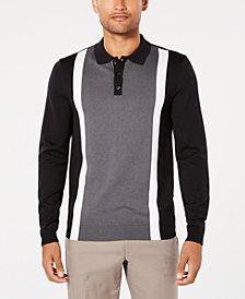 Ryan Seacrest Distinction Men's Colorblocked Stripe Polo, Created for Macy's