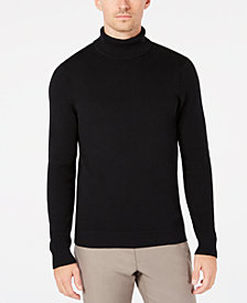 Ryan Seacrest Distinction™ Men's Mixed Guage Turtleneck, Created for Macy's