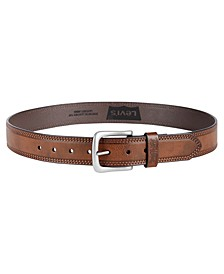 Men's Creased-Edge Stitched Casual Belt
