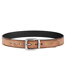 Men's Creased Stitched Reversible Casual Belt
