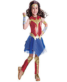 Justice League Movie - Wonder Woman Deluxe Girls Costume