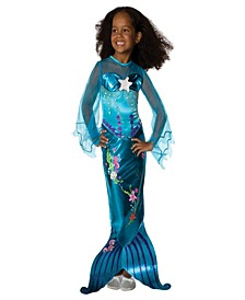 Magical Mermaid Toddler Little and Big Girls Costume
