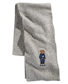 Polo Ralph Lauren Men's Blue Jean Polo Bear Scarf