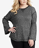 Jessica Simpson Trendy Plus Size Bell-Sleeve Top