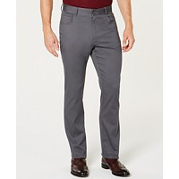 Ryan Seacrest Distinction Men's Cross Hatch Pants (Charcoal)