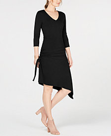 I.N.C. Ruched Asymmetrical Dress, Created for Macy's