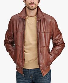 Marc New York Men's Shirt Collar Leather Jacket