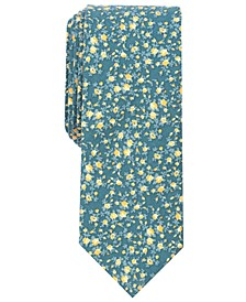 Men's Watercolor Floral Print Skinny Tie, Created for Macy's