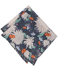 Bar III Men's Berwick Floral Wool Pocket Square, Created for Macy's