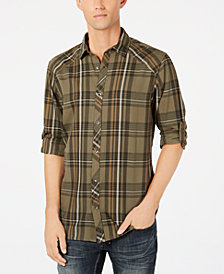 I.N.C. Men's Marc Plaid Shirt, Created for Macy's