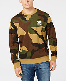 G-Star RAW Men's Camo-Print Sweatshirt