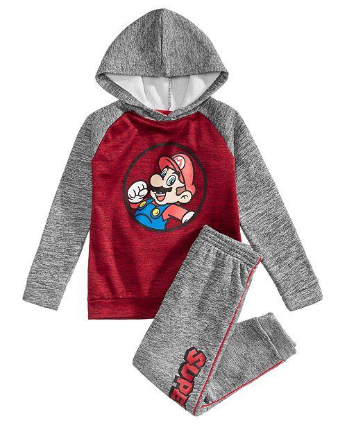 4fac07d60 Nintendo Toddler Boys 2Pc. Mario Graphic Hoodie   Pants Set ...