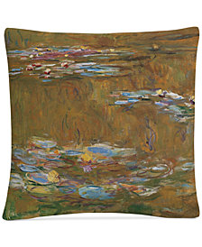 "Monet The Water Lily Pond 16"" x 16"" Decorative Throw Pillow"