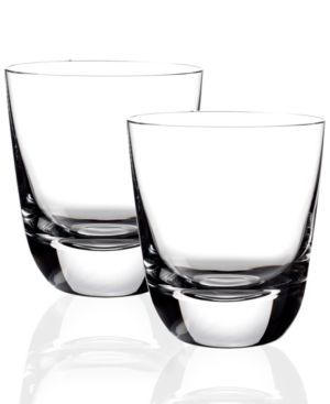 Villeroy & Boch Drinkware, Set of 2 American Bar Straight Bourbon Double Old Fashioned Glasses 612187