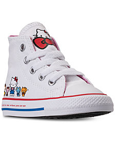 Converse Toddler Girls' Chuck Taylor High Top Hello Kitty Casual Sneakers from Finish Line