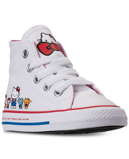 f999145ec8d3 ... Converse Toddler Girls  Chuck Taylor High Top Hello Kitty Casual  Sneakers from Finish ...