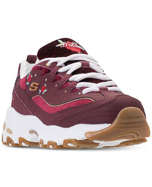 b2918030d73d ... Skechers Women s D Lites - Rose Blooms Walking Sneakers from Finish ...