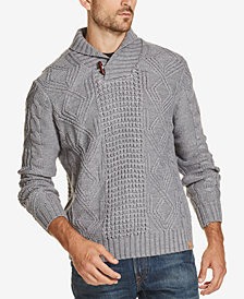 Weatherproof Vintage Men's Fisherman Shawl Collar Sweater