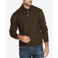Weatherproof Vintage Mens Button Mock-Neck Sweater Deals