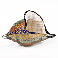 Badash Crystal Conch Shell Art Glass Sculpture