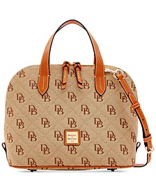 Signature Quilt Zip Zip Satchel, Created for Macy's