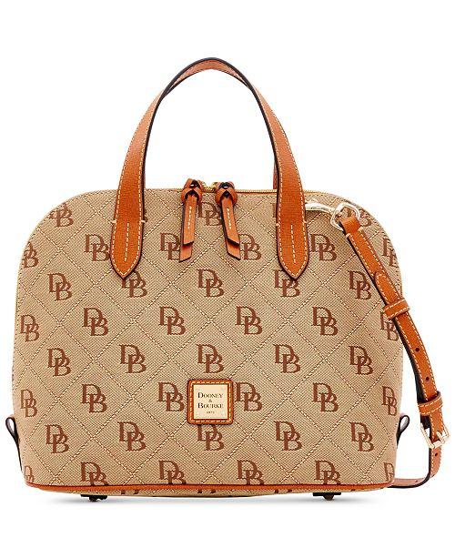 Dooney & Bourke Signature Quilt Zip Zip Satchel, Created for Macy's