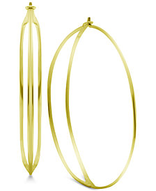 Essentials Double Row Wire Hoop Earrings
